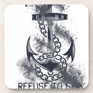 Refuse to Sink Drink Coaster