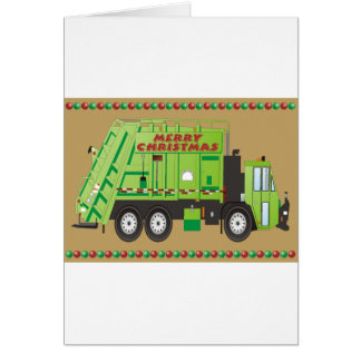 Refuse Truck Greeting Cards