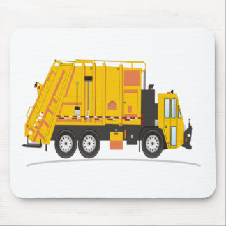Refuse Truck Yellow Mouse Mat