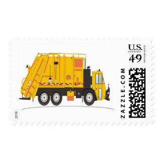 Refuse Truck Yellow Postage