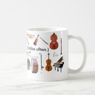 """Reg. 11 oz. """"Music is Life!  (Imbibe, often.)"""" Mug"""