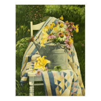 Regadera 1138 en el edredón en postal del jardín