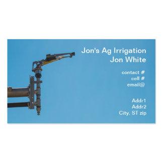 Regadera agrícola tarjetas de visita