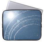 Regadera del agua en el cielo manga portátil