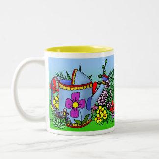 Regadera en la taza del jardín