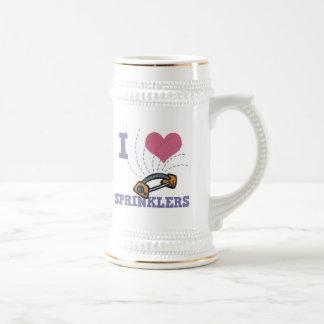 regaderas del corazón i jarra de cerveza