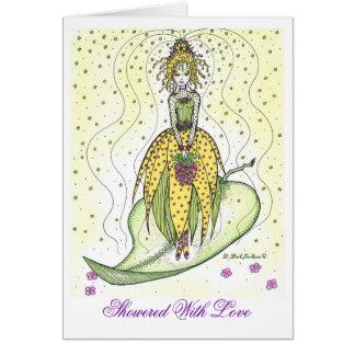 Regado con amor tarjeta de felicitación