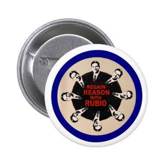 Regain Reason with Rubio Pinback Button