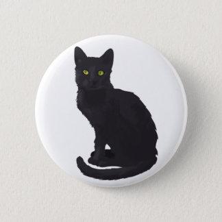 Regal Black Cat Button