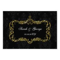 regal black gold rsvp cards Standard 3.5 x 5