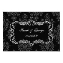 regal black gray rsvp cards Standard 3.5 x 5