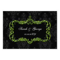 regal black green rsvp cards Standard 3.5 x 5