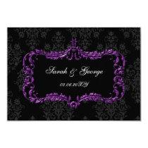 regal black purple rsvp cards Standard 3.5 x 5