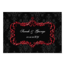 regal black red rsvp cards Standard 3.5 x 5