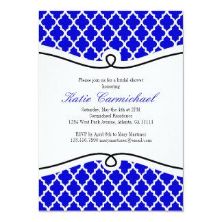 Regal Blue, Black & White Moroccan Invitation