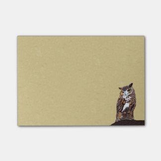 Regal Brown Owl Tree Stump Post-it® Notes