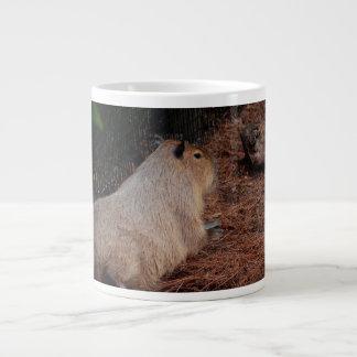 regal capybara back view animal giant coffee mug