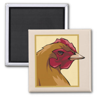 Regal Chicken 2 Inch Square Magnet