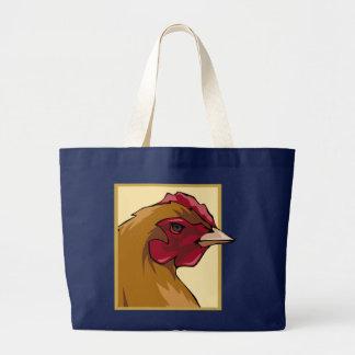Regal Chicken Large Tote Bag