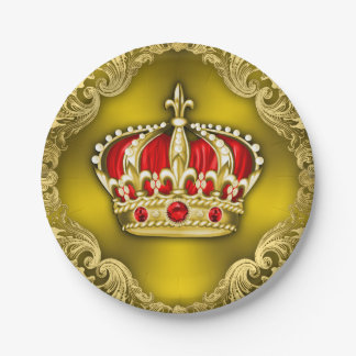 Regal Crown Royal Prince Baby Shower Paper Plate