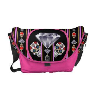 Regal Double Diamond Edition Sugar Skull Messenger Bag