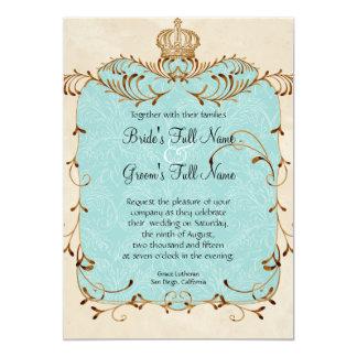 Regal Egrets, Swirls & Damask - Wedding Invitation