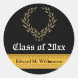 Regal Elegance Graduation Invitation Seal (black) Stickers