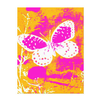 REGAL FRITILLARY BUTTERFLY - WHITE STRETCHED CANVAS PRINTS