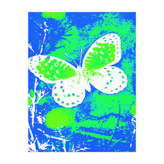 REGAL FRITILLARY BUTTERFLY - WHITE CANVAS PRINT