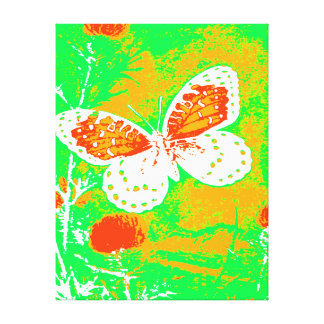 REGAL FRITILLARY BUTTERFLY - WHITE STRETCHED CANVAS PRINT
