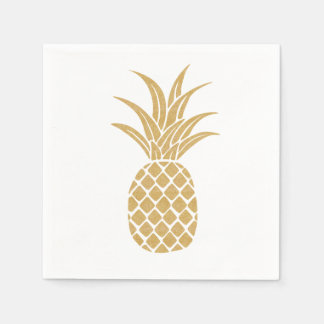 Regal Gold Pineapple Napkins