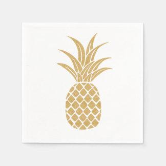 Regal Gold Pineapple Napkins