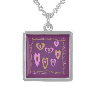 Regal Hearts Small Sterling Silver Necklace