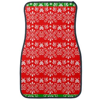 Regal Layered Green & Red Car Mat