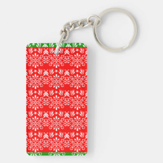 Regal Layered Green & Red Keychain