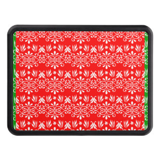 Regal Layered Green & Red Trailer Hitch Cover
