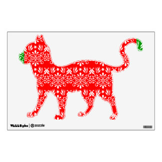 Regal Layered Green & Red Wall Sticker