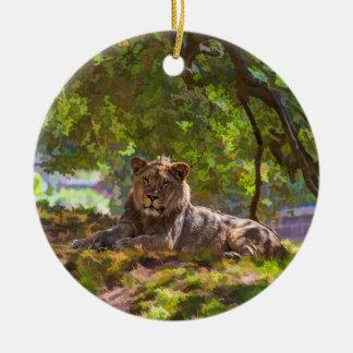REGAL LION CERAMIC ORNAMENT
