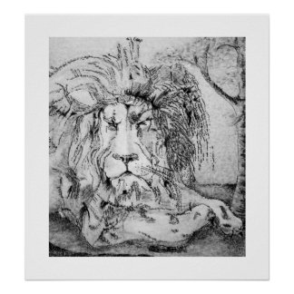 Regal Lion Poster