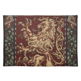 Regal Lion Tapestry Cloth Placemat