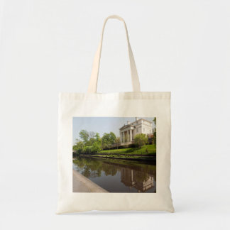 Regal Mansion on the Regents Canal, London Tote Bags