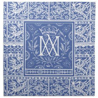 Regal Monogram MA Like Marie Antoinette! Cloth Napkin