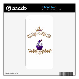 Regal Purple Cupcake Decals For The iPhone 4S