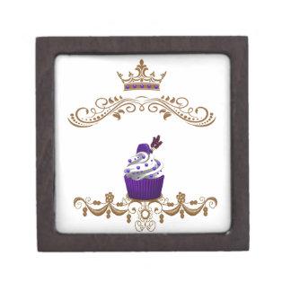 Regal Purple Cupcake Jewelry Box