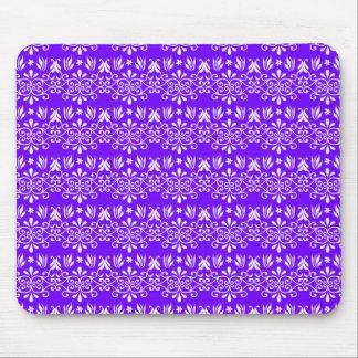 Regal Purple Floral Pattern Mousepad