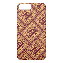 Regal Red and Gold Renaissance Monogram A iPhone 7 Plus Case