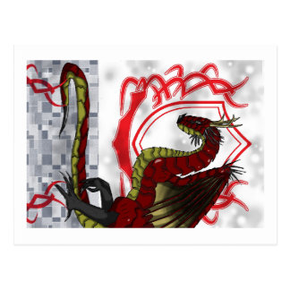 Regal Red Dragon Postcard