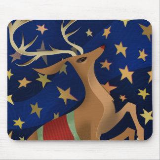 Regal Reindeer Mouse Pads