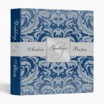 Regal Royal Blue Damask Wedding Album Binder
