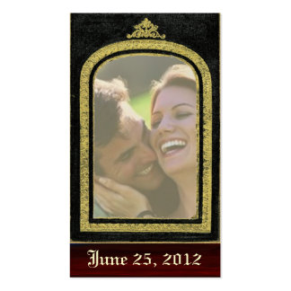 Regal ~ Save The Date Cards Photo Insert Double-Sided Standard Business Cards (Pack Of 100)